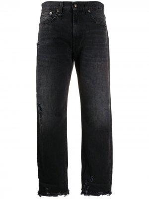 Укороченные джинсы R13. Цвет: черный