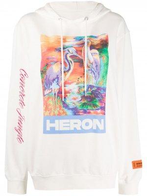 Худи с принтом Heron Preston. Цвет: белый