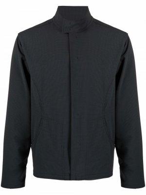 Байкерская куртка Affix. Цвет: серый