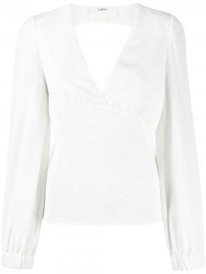 Блузка с глубоким V-образным вырезом Ba&Sh. Цвет: белый