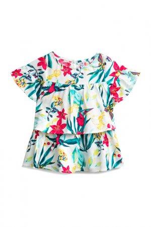 Блузка PlayToday. Цвет: белый