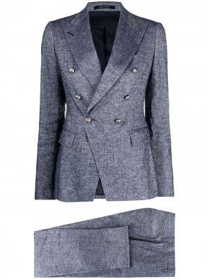 Фактурный двубортный пиджак Tagliatore. Цвет: серый