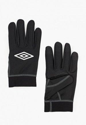 Перчатки Umbro. Цвет: черный