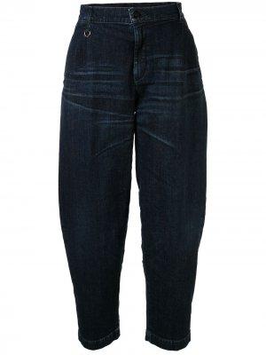 Зауженные джинсы средней посадки Makavelic. Цвет: синий