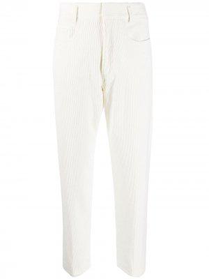Укороченные вельветовые брюки Haider Ackermann. Цвет: белый