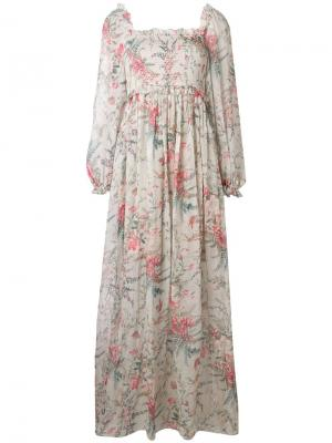 Floral flared dress Zimmermann. Цвет: серый