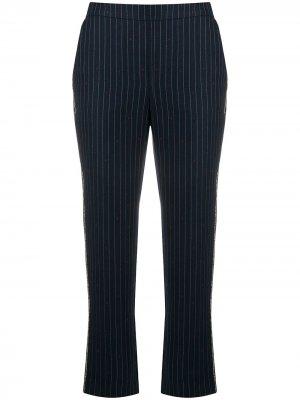 Укороченные брюки в полоску Zadig&Voltaire. Цвет: синий