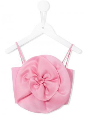 Топ с цветком Little Bambah. Цвет: розовый