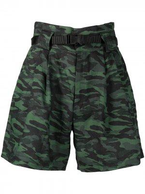 Шорты  Talia с завышенной талией и камуфляжным принтом Solid & Striped. Цвет: зеленый
