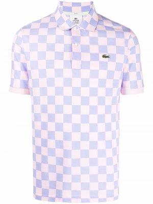 Клетчатая рубашка поло L&Jr. Цвет: фиолетовый