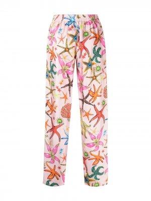 Пижамные брюки с принтом Trésor De La Mer Versace. Цвет: розовый