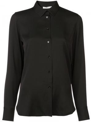 Классическая рубашка Vince. Цвет: черный
