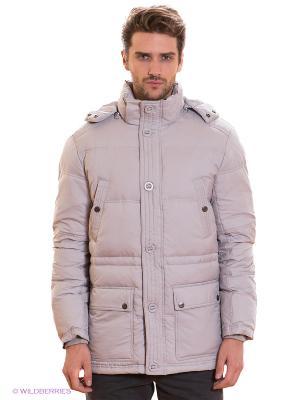 Куртка Al Franco. Цвет: светло-серый
