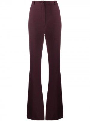 Расклешенные брюки с завышенной талией Hebe Studio. Цвет: фиолетовый