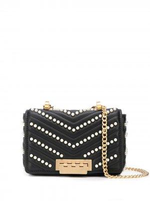 Мини-сумка на плечо Earthette с цепочкой Zac Posen. Цвет: черный