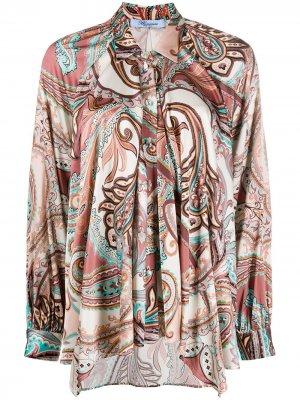 Рубашка свободного кроя с принтом пейсли Blumarine. Цвет: розовый