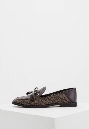 Лоферы DKNY. Цвет: коричневый