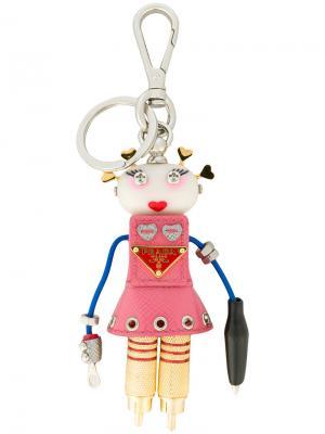Брелок с роботом Prada. Цвет: многоцветный