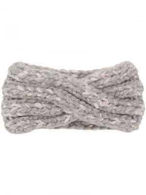 Вязаная повязка на голову Eugenia Kim. Цвет: серый