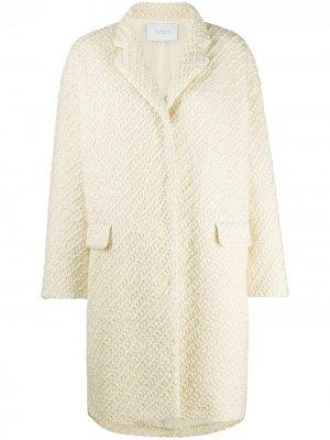 Фактурное пальто Giambattista Valli. Цвет: нейтральные цвета