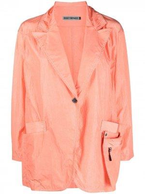 Пальто с карманом на молнии Issey Miyake. Цвет: оранжевый