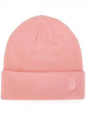 Шапка бини с вышитым логотипом A BATHING APE®. Цвет: розовый