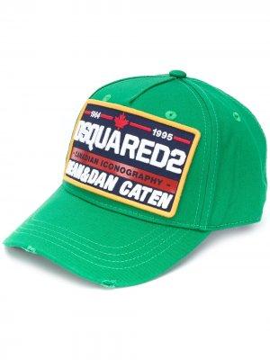 Бейсболка с вышитым логотипом Dsquared2. Цвет: зеленый