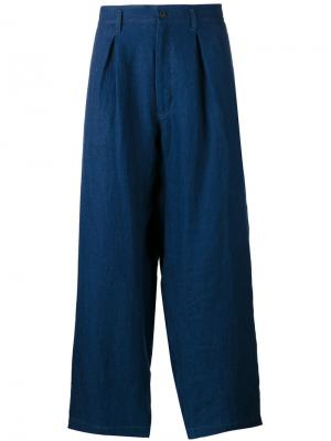 Укороченные спортивные брюки Yohji Yamamoto. Цвет: синий