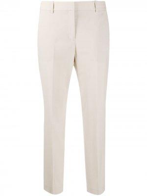 Укороченные брюки строгого кроя Theory. Цвет: нейтральные цвета