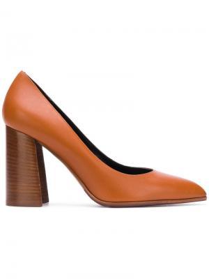 Pointed heel pumps Deimille. Цвет: коричневый