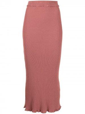 Трикотажная юбка Turley Altuzarra. Цвет: розовый