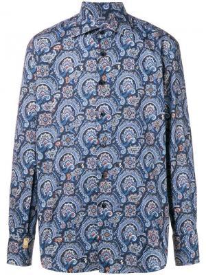 Рубашка Javier Billionaire. Цвет: синий