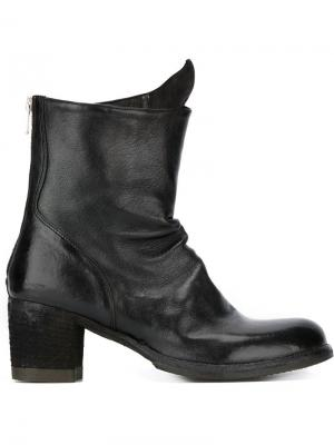 Сапоги на каблуках-столбиках Officine Creative. Цвет: черный