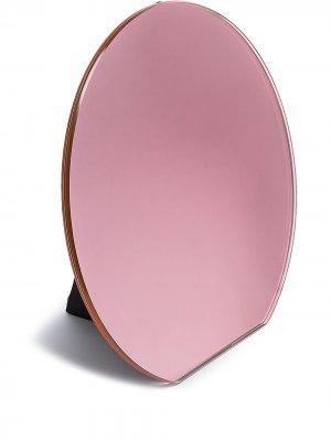 Круглое настольное зеркало Dita Pulpo. Цвет: розовый