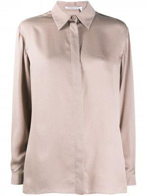 Рубашка с потайной застежкой и узором Agnona. Цвет: розовый