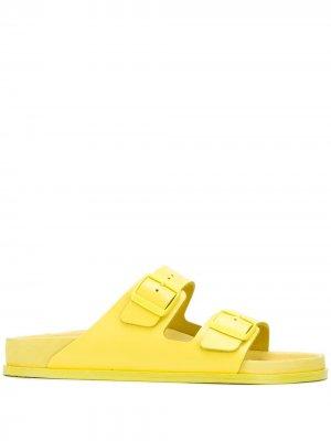 Сандалии Premium Birkenstock. Цвет: желтый