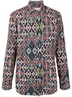 Рубашка с ковровым принтом Etro. Цвет: синий