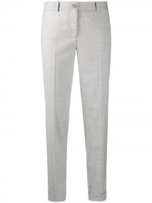 Укороченные брюки строгого кроя Fabiana Filippi. Цвет: серый