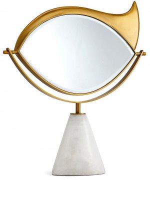 LObjet зеркало Lito Vanity L'Objet. Цвет: золотистый