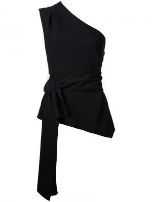 Топ на одно плечо Narciso Rodriguez. Цвет: черный