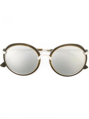 Солнцезащитные очки Dries Van Noten x Linda Farrow Eyewear. Цвет: металлический