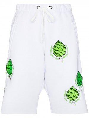 Спортивные шорты с вышивкой Natasha Zinko. Цвет: белый