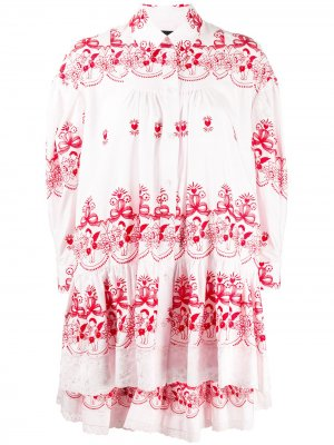 Блузка с вышивкой Simone Rocha. Цвет: розовый