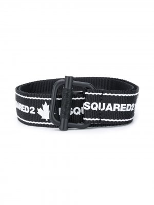 Ремень с логотипом Dsquared2 Kids. Цвет: черный