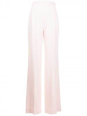 Длинные брюки прямого кроя Giambattista Valli. Цвет: розовый