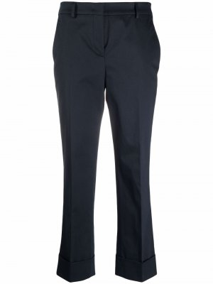 Укороченные брюки прямого кроя Incotex. Цвет: синий