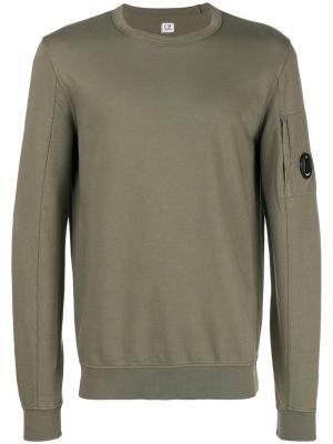 Crew neck sweatshirt CP Company. Цвет: зеленый