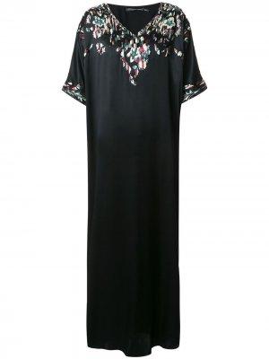 Платье-туника Suzani Josie Natori Couture. Цвет: черный