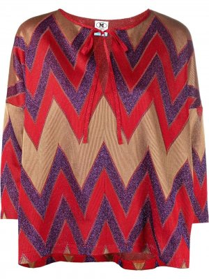 Блузка с узором зигзаг M Missoni. Цвет: красный