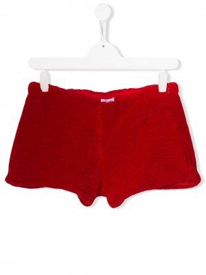 Фактурные шорты Il Gufo. Цвет: красный